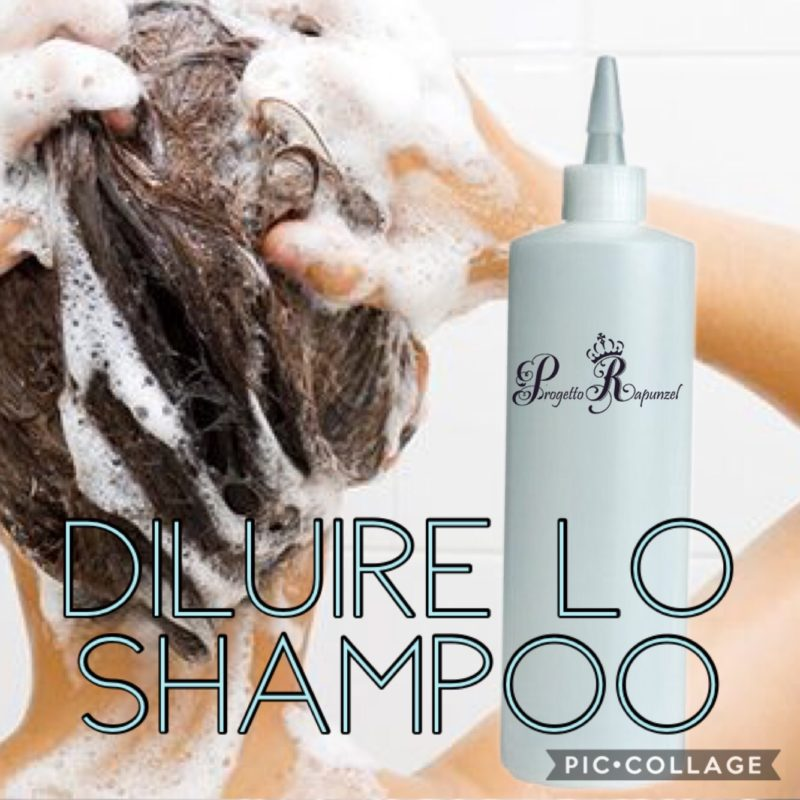 Diluire lo shampoo