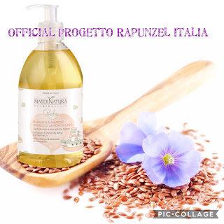 MATERNATURA BABY Bagno & Shampoo Delicato ai Fiori di Lino ⚜