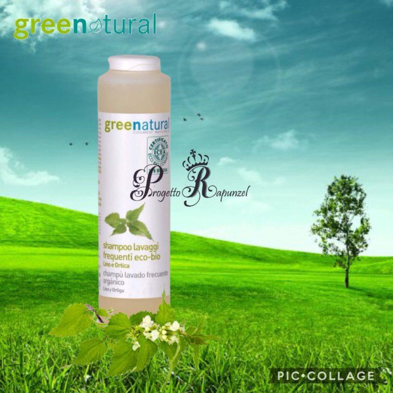 GREENATURAL Shampoo lavaggi frequenti ecobio Lino e Ortica