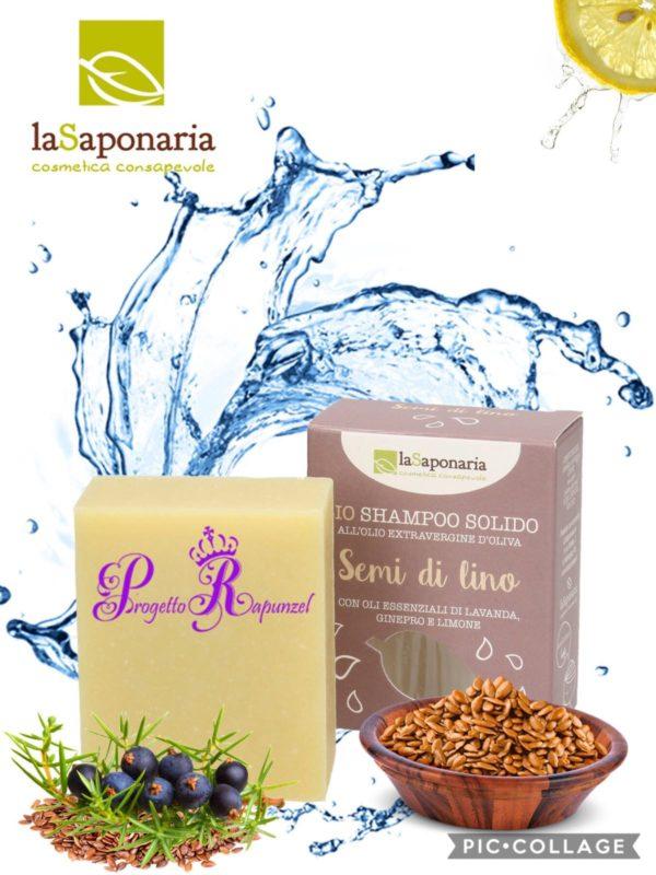 La Saponaria Shampoo solido ai semi di lino