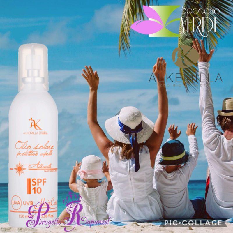 ALKEMILLA Olio Solare Protezione CAPELLI Spray