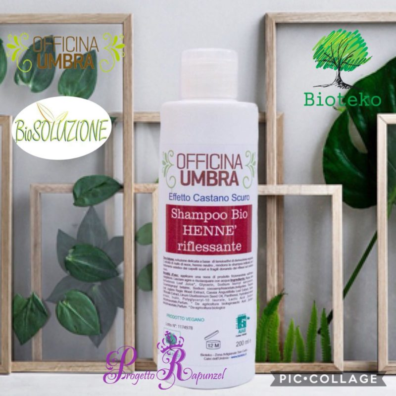OFFICINA UMBRA – Shampoo Bio Riflessante all' Hennè (Castano Scuro)