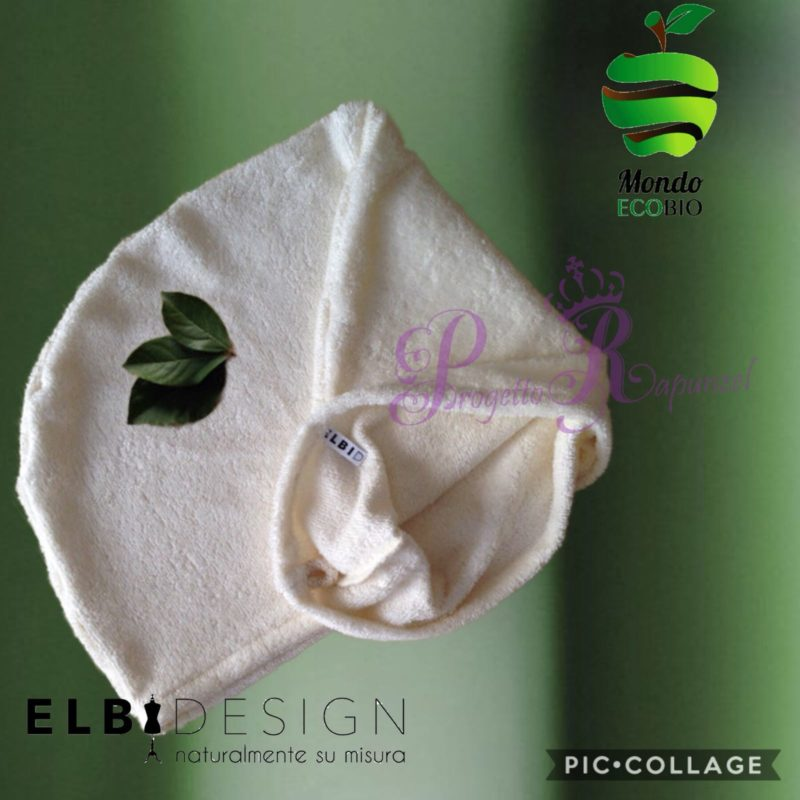 ELBIDESIGN – Cappuccio Turbante Asciugacapelli in Bamboo