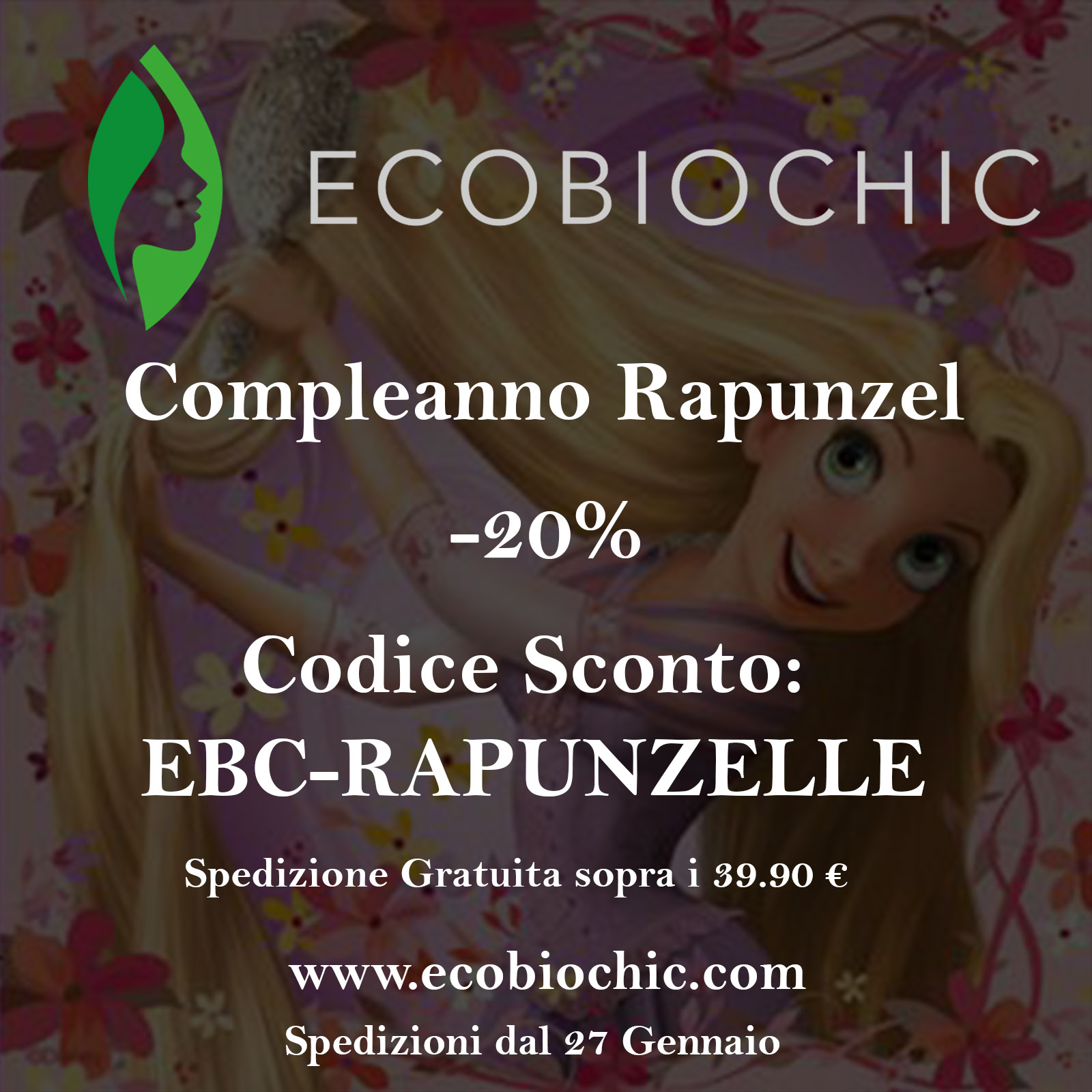 EcobioChic Compleanno Rapunzel