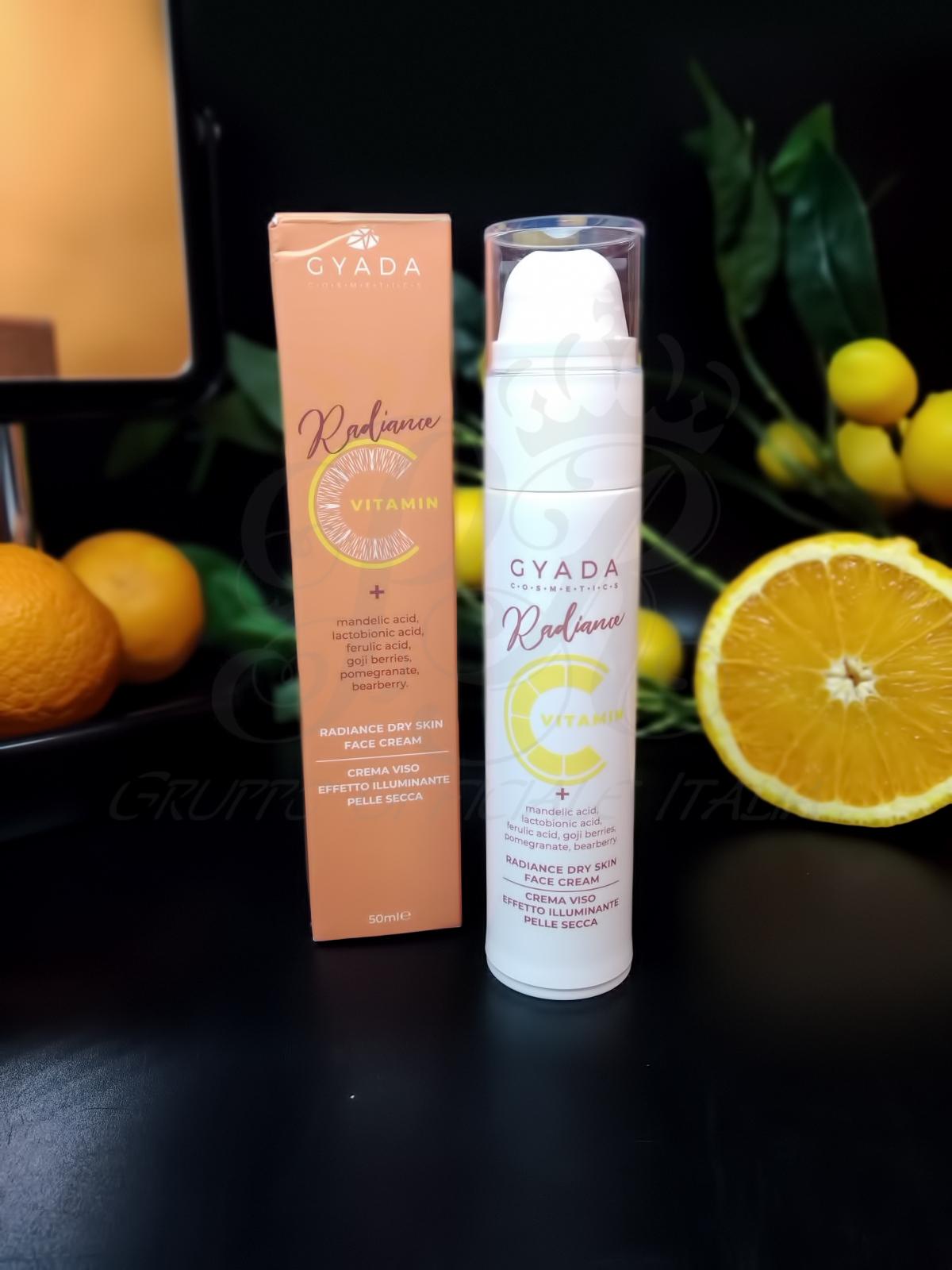 Gyada Cosmetics Crema Viso Pelle Secca Illuminante
