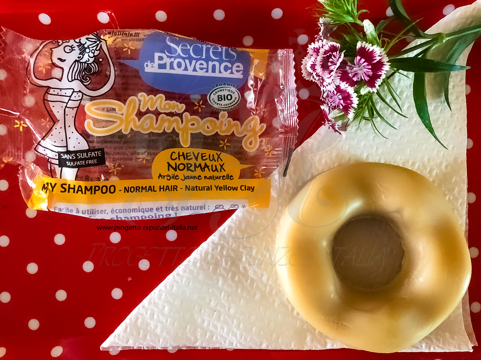 Secrets De Provence Shampoo solido con argilla gialla capelli normali